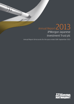 JP Morgan Japanese Investment Trust annual report 2013