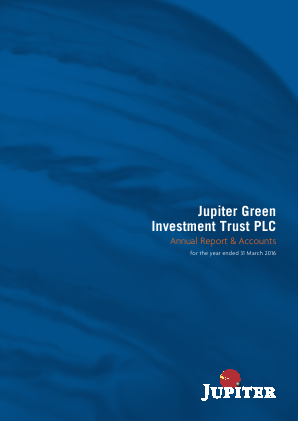 Jupiter Green Investment Trust annual report 2016