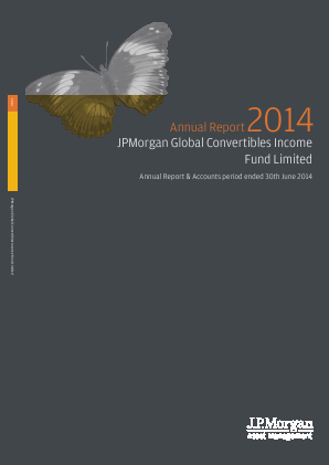 JP Morgan Global Convertibles Income Fund annual report 2014