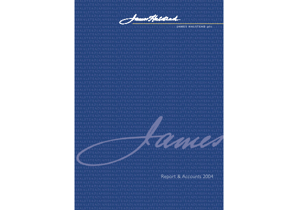 James Halstead annual report 2004