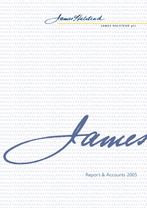 James Halstead annual report 2005