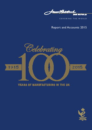 James Halstead annual report 2015