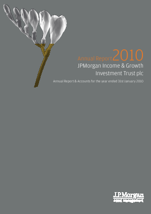 JP Morgan Inc & Growth Investment Trust Plc annual report 2010