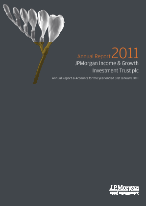 JPMORGAN INCOME & GROWTH INVESTMENT TRUST annual report 2011