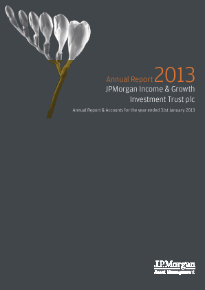 JPMORGAN INCOME & GROWTH INVESTMENT TRUST annual report 2013