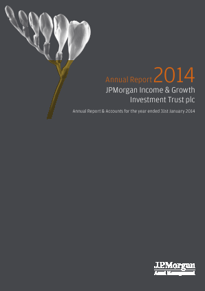 JPMORGAN INCOME & GROWTH INVESTMENT TRUST annual report 2014