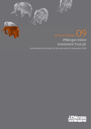 JP Morgan Indian Investment Trust annual report 2009