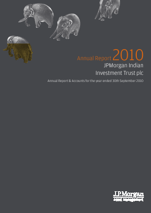 JP Morgan Indian Investment Trust annual report 2010