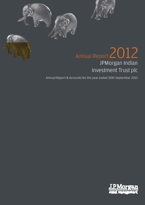 JP Morgan Indian Investment Trust annual report 2012