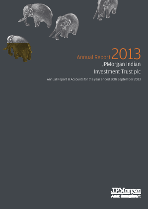JP Morgan Indian Investment Trust annual report 2013