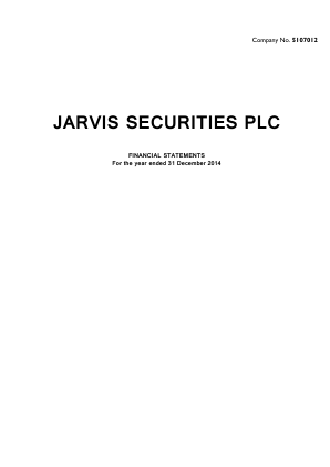 Jarvis Securities annual report 2014