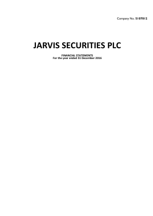 Jarvis Securities annual report 2016