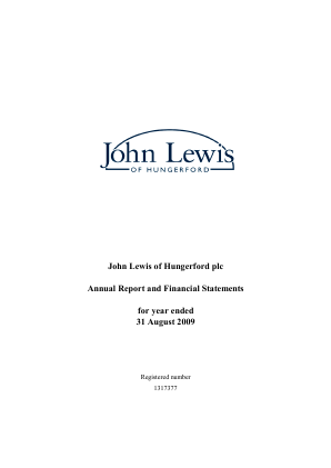 John Lewis Of Hungerford annual report 2009