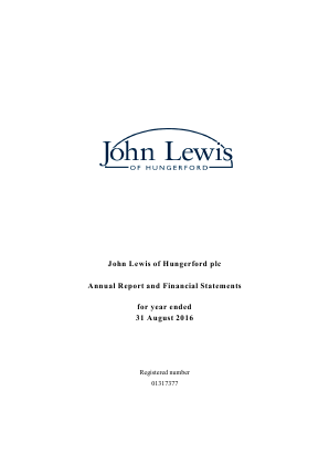John Lewis Of Hungerford annual report 2016