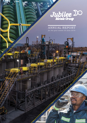 Jubilee Metals Group PLC (previously Jubilee Platinum) annual report 2018