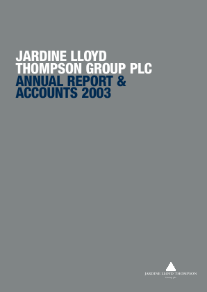 Jardine Lloyd Thompson Group annual report 2003