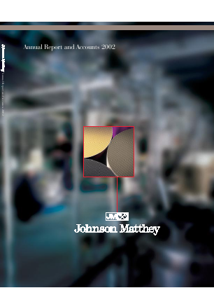 Johnson Matthey annual report 2002