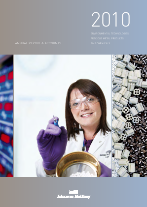 Johnson Matthey annual report 2010