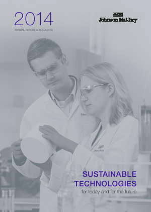 Johnson Matthey annual report 2014