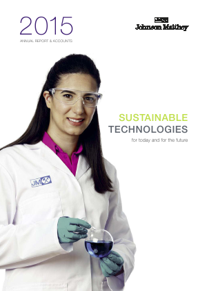 Johnson Matthey annual report 2015