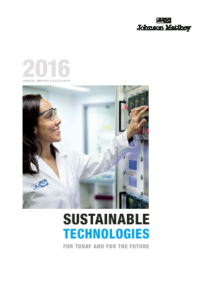 Johnson Matthey annual report 2016