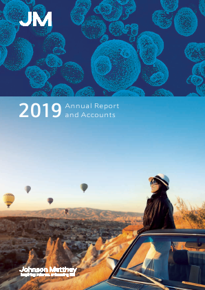 Johnson Matthey annual report 2019