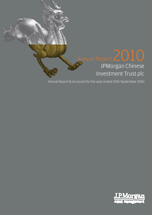 JP Morgan Chinese Investment Trust annual report 2010