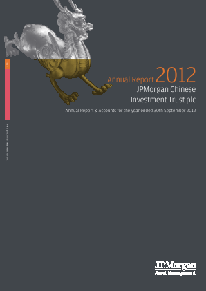 JP Morgan Chinese Investment Trust annual report 2012