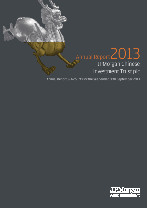JP Morgan Chinese Investment Trust annual report 2013
