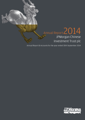 JP Morgan Chinese Investment Trust annual report 2014