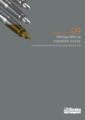 JP Morgan Mid Cap Investment Trust annual report 2009