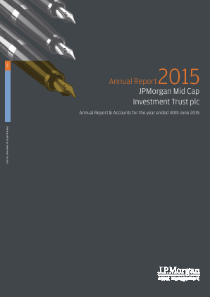 JP Morgan Mid Cap Investment Trust annual report 2015