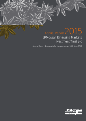 JP Morgan Emerging Markets Investment Trust annual report 2015