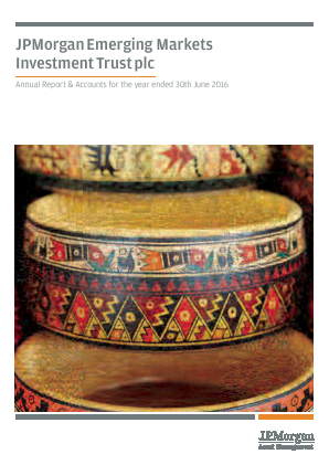 JP Morgan Emerging Markets Investment Trust annual report 2016