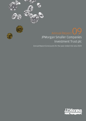 JP Morgan Smaller Companies Investment Trust Plc annual report 2009