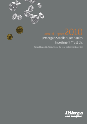 JP Morgan Smaller Companies Investment Trust Plc annual report 2010