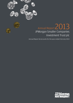 JP Morgan Smaller Companies Investment Trust Plc annual report 2013