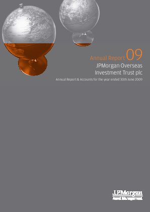 JPMorgan Global Growth & Income plc (formally JP Morgan Overseas Investment Trust Plc) annual report 2009