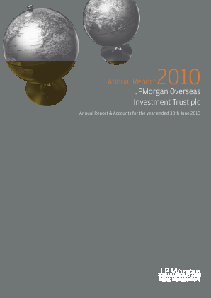JPMorgan Global Growth & Income plc (formally JP Morgan Overseas Investment Trust Plc) annual report 2010