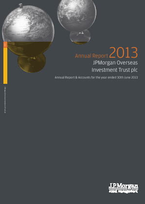 JPMorgan Global Growth & Income plc (formally JP Morgan Overseas Investment Trust Plc) annual report 2013