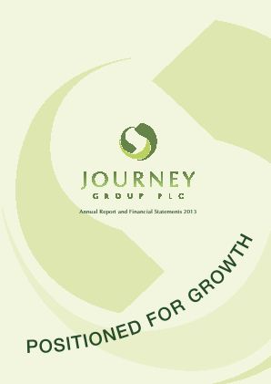 Journey Group Plc annual report 2013