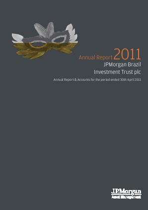 JP Morgan Brazil Investment Trust annual report 2011