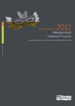 JP Morgan Brazil Investment Trust annual report 2012