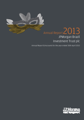 JP Morgan Brazil Investment Trust annual report 2013