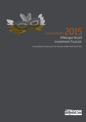 JP Morgan Brazil Investment Trust annual report 2015