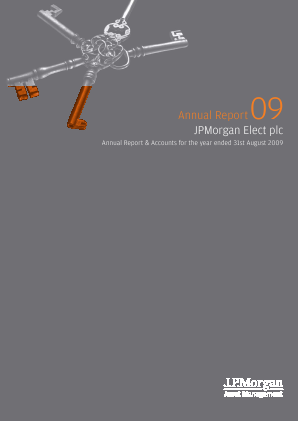 JP Morgan Elect annual report 2009