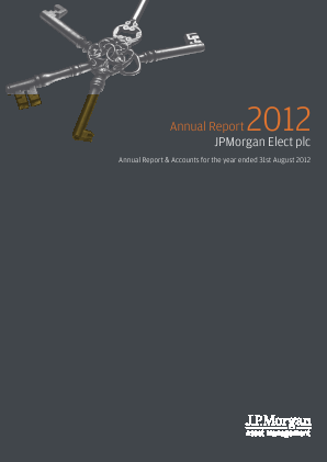 JP Morgan Elect annual report 2012