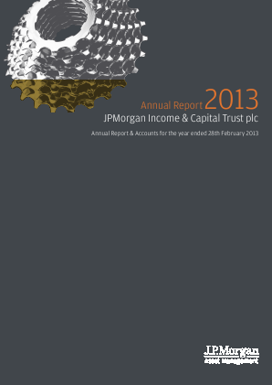 JP Morgan Income & Capital Trust Plc annual report 2013