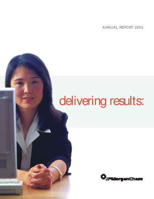 JP Morgan Chase & Co annual report 2003