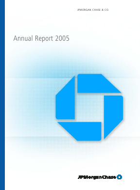 JP Morgan Chase & Co annual report 2005